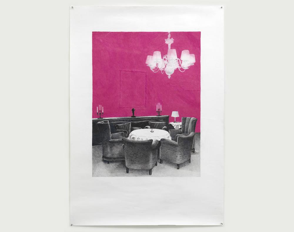 'Berlijn', 150 x 100 cm; kleurpotlood en pastelkrijt op papier; 2007
