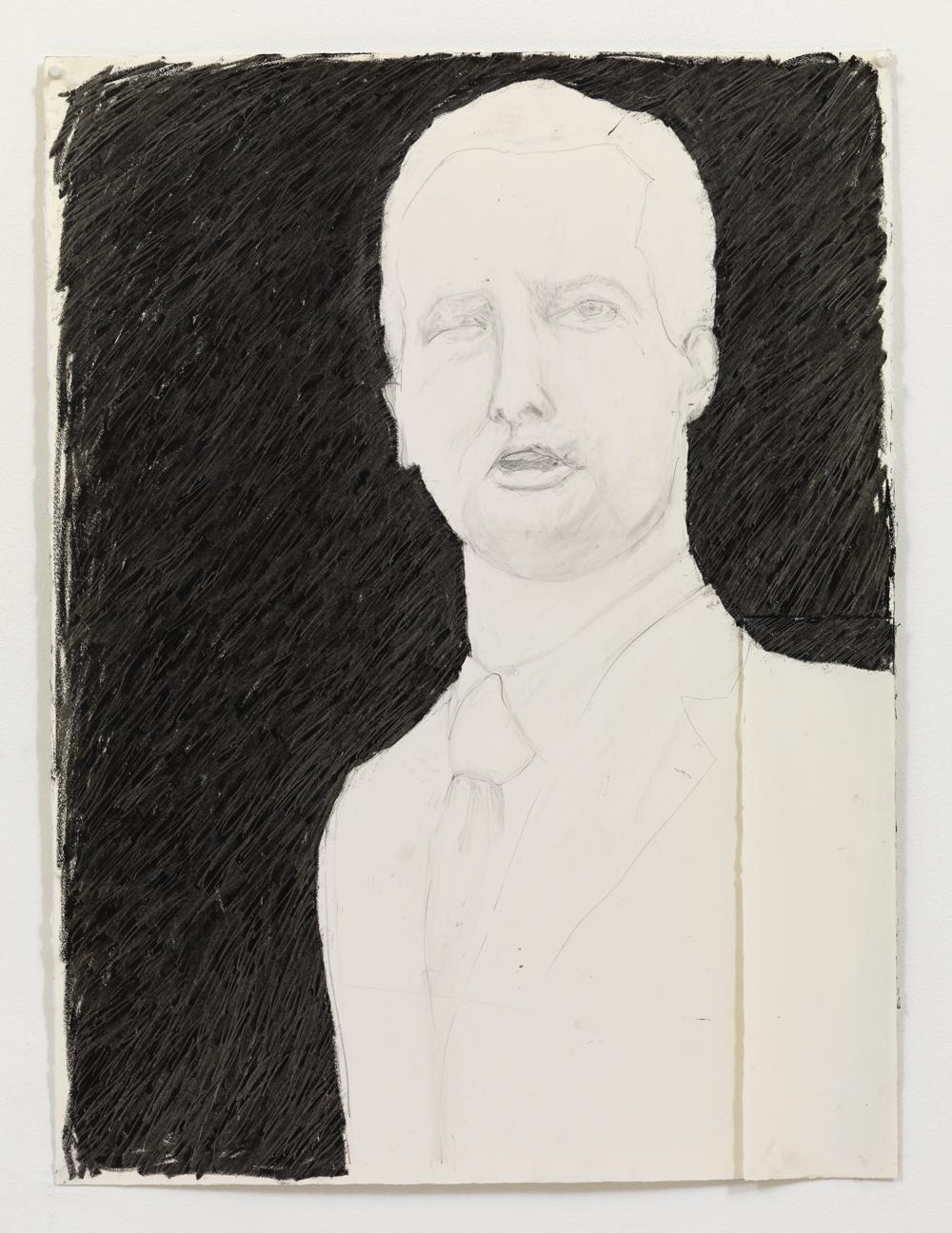 'Gouverner I' , 80 x 60 cm; Potlood en oliepastel op papier; 2009