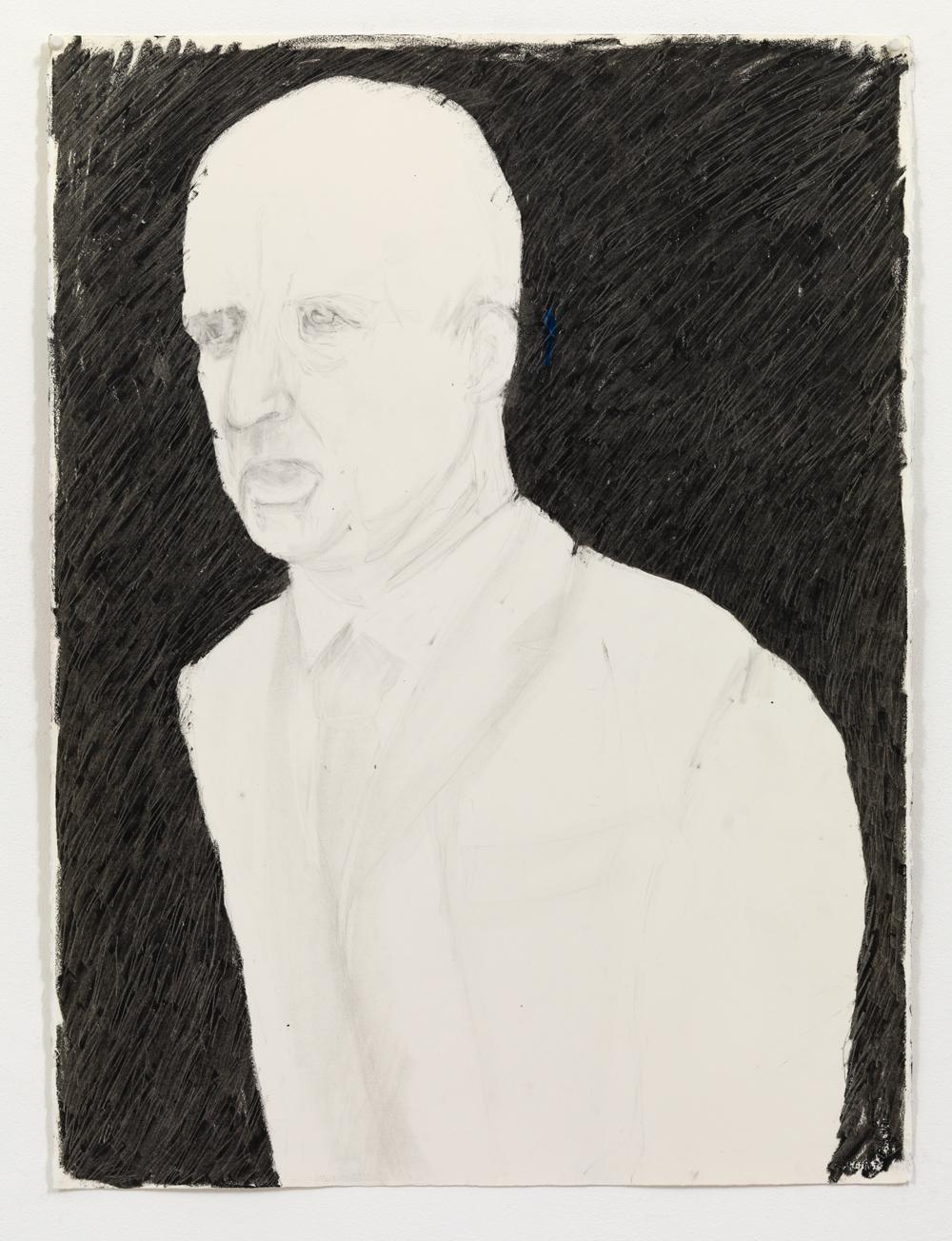 'Gouverner 2' , 80 x 60 cm; Potlood en oliepastel op papier; 2009
