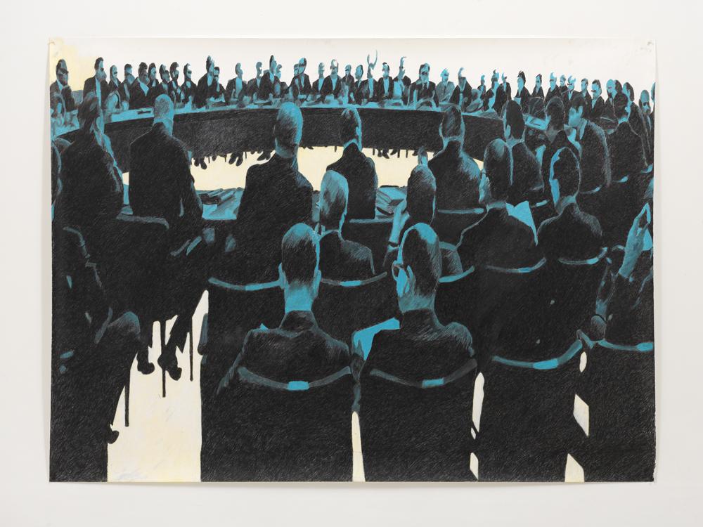 'Noordwijk', 130 x 155 cm; kleurpotlood en oliepastel op papier; 2010
