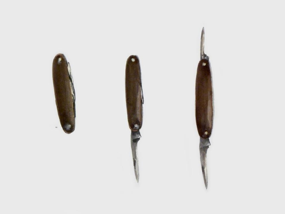 Zakmesje (familiearchief); 40 x 60; aquarel; 2012